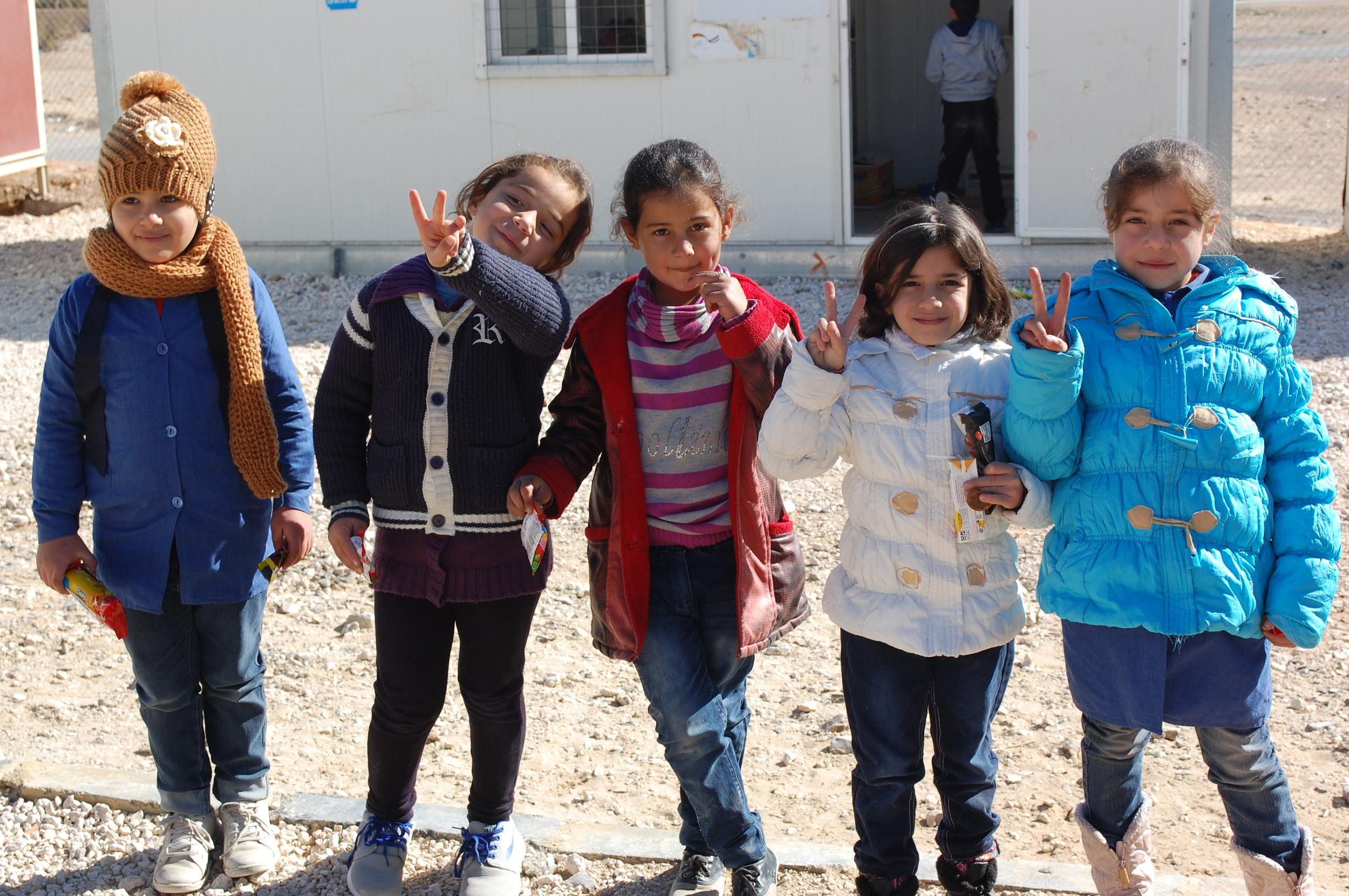 Future musicians at school in Azraq!