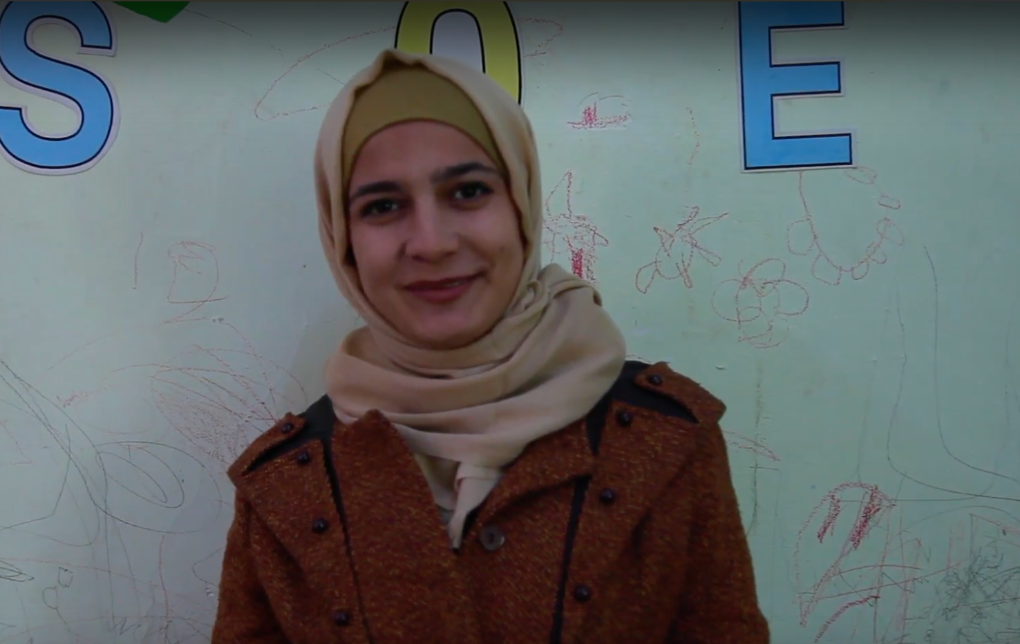 At the Azraq school in Jordan, The Syria Fund supports full time teachers who educate over 100 Syrian refugee children in Arabic, Math and Science. Miriam was hired as a teacher three years ago after fleeing Syria and is proud to bring knowledge to her 26 students every day.