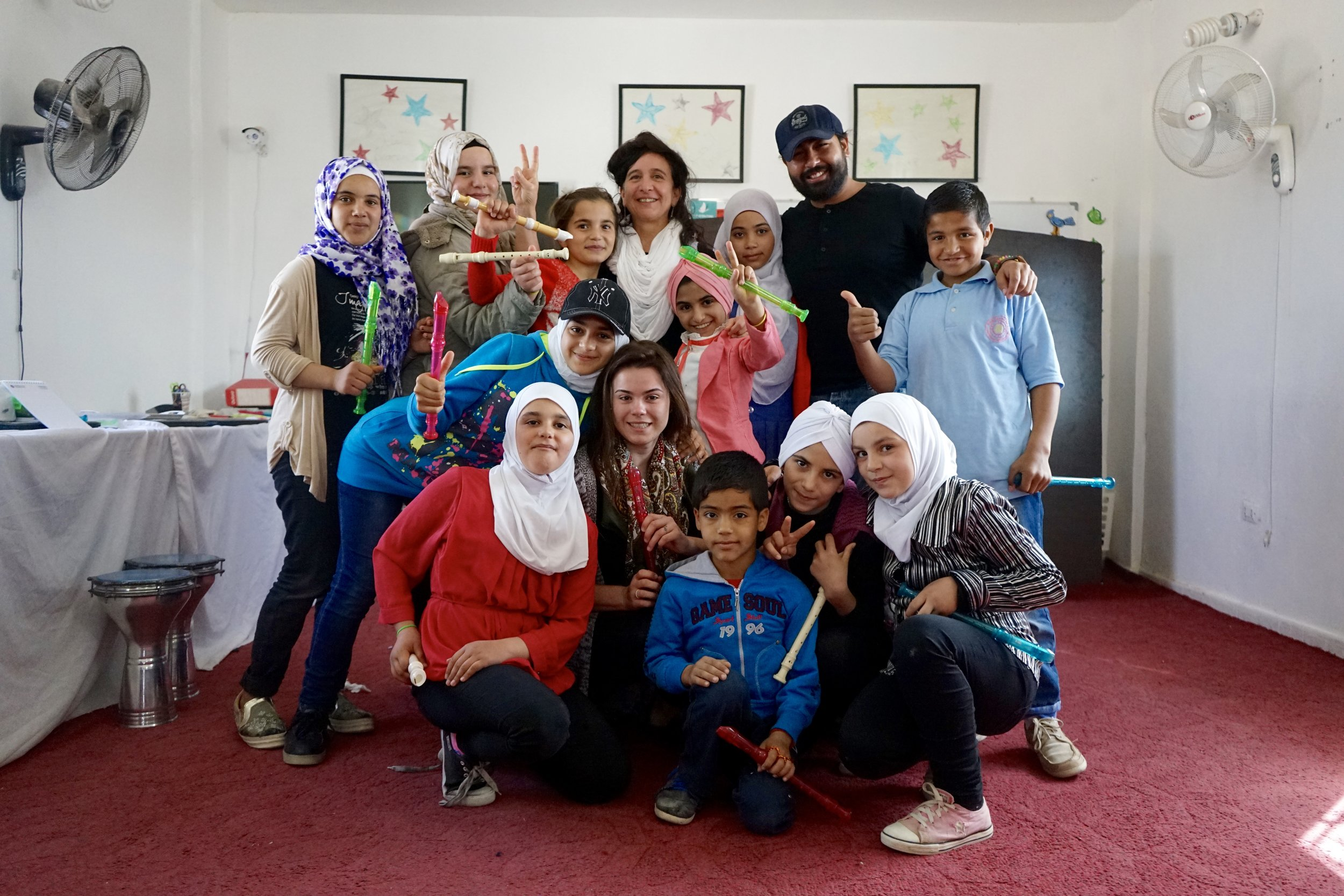 Songs for Syrians - Songs for Syrians is a music education program in collaboration with NY-based non-profit S'Cool Sounds. SFS provides instruction in instrument performance and musical ensembles.LEARN MORE