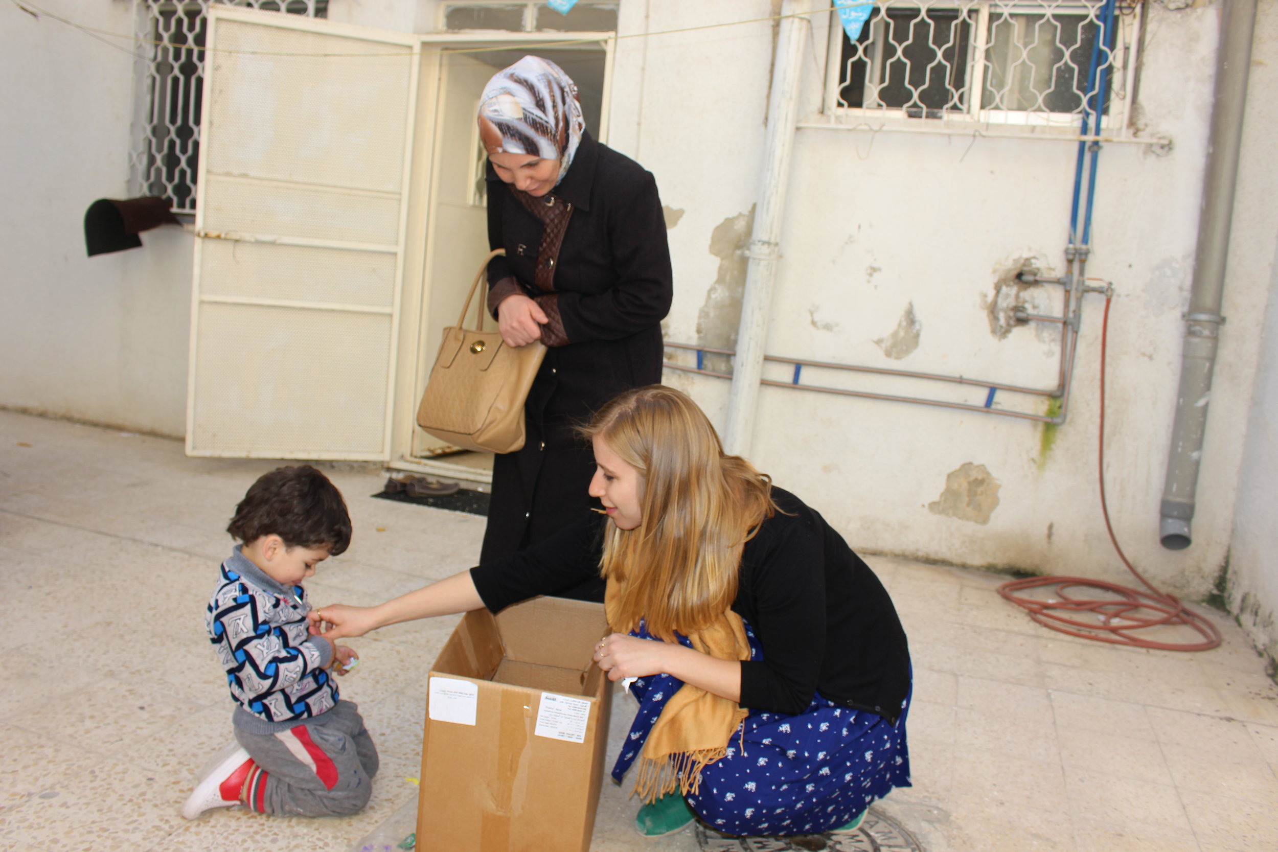 CRITICAL NEEDS DISTRIBUTIONS - The Azraq Center is addressing the massive humanitarian crisis among Syrian refugees living in Jordan by regularly providing basic supplies to support families in need. Our efforts are successful because of our strong partnerships with local charities and vendors.