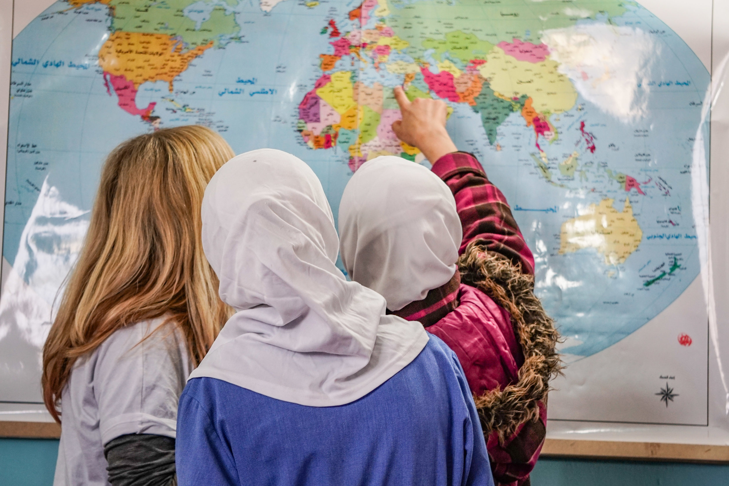 REMEDIAL EDUCATION - The primary goal of The Azraq Center is to get Syrian refugee children back into the classroom and to promote their successful integration and academic success in the Jordanian Public School System when possible. We focus on the core academic subjects of Arabic, Math, Science and English, aligning as closely as possible with the Jordanian curriculum and the pacing at the local South Azraq Public School. Close collaboration with administrators at the public school helps to identify academic and behavioral challenges and tailor our efforts to improve them.