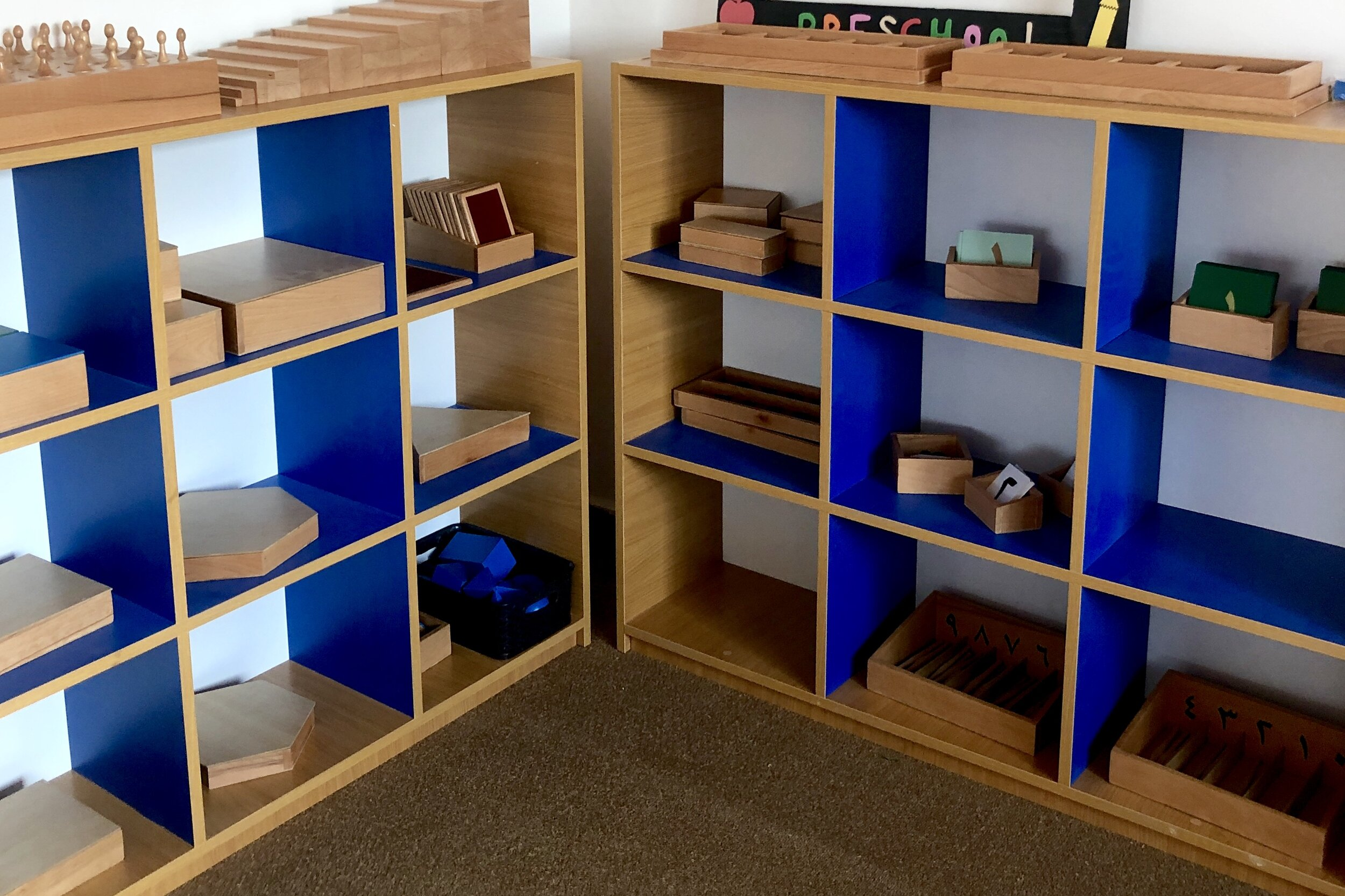 Montessori Materials unpacked & ready!