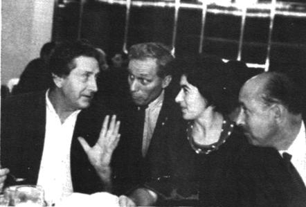 yves joly, bil baird, margureta niculescu, lucien caron at the 1965 bucharest festival