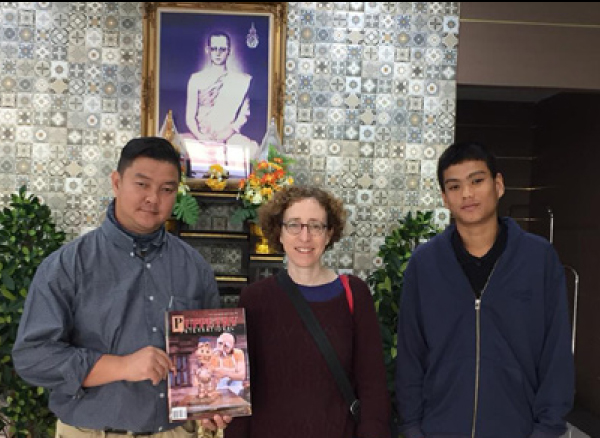 The author with company members of Phuket Marionettes, Thailand