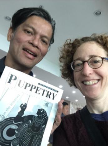 Festival organIzer Nimit PipItkul with the author