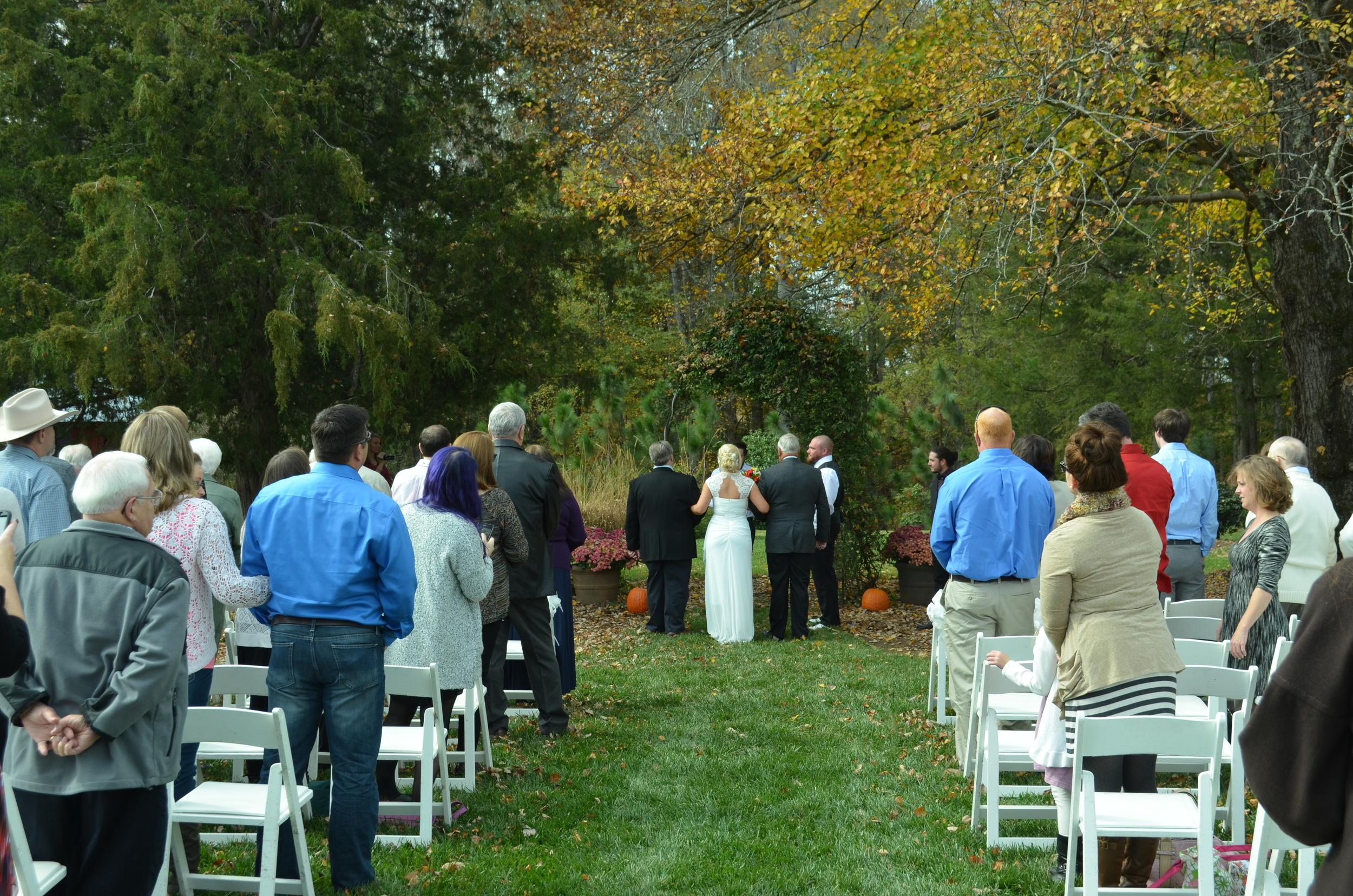 October wedding at Hauser Creek Farm