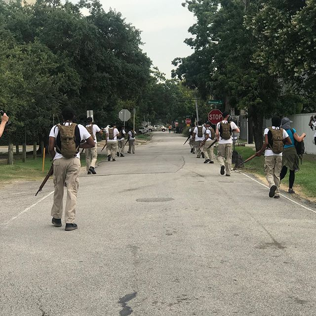 Fire and Movement Houston,TX. July 11, 2019 A four-mile march on the route of the 24th infantry Camp Logan/Houston uprising.