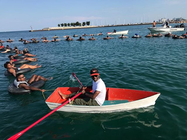 FLOAT 2019 Lake Michigan Well, it was an adventure and a terrific conversation about risk in the water. I think Eugene would've smiled to see us on the Lake.