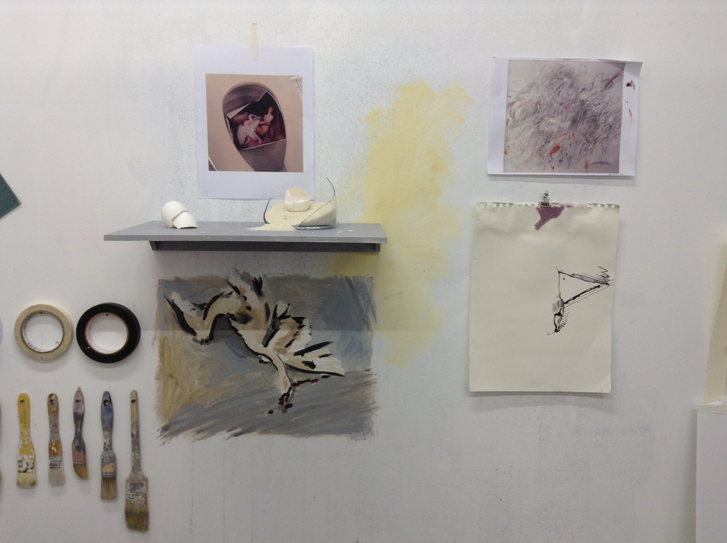 work in progress in studio / during research and pre-production
