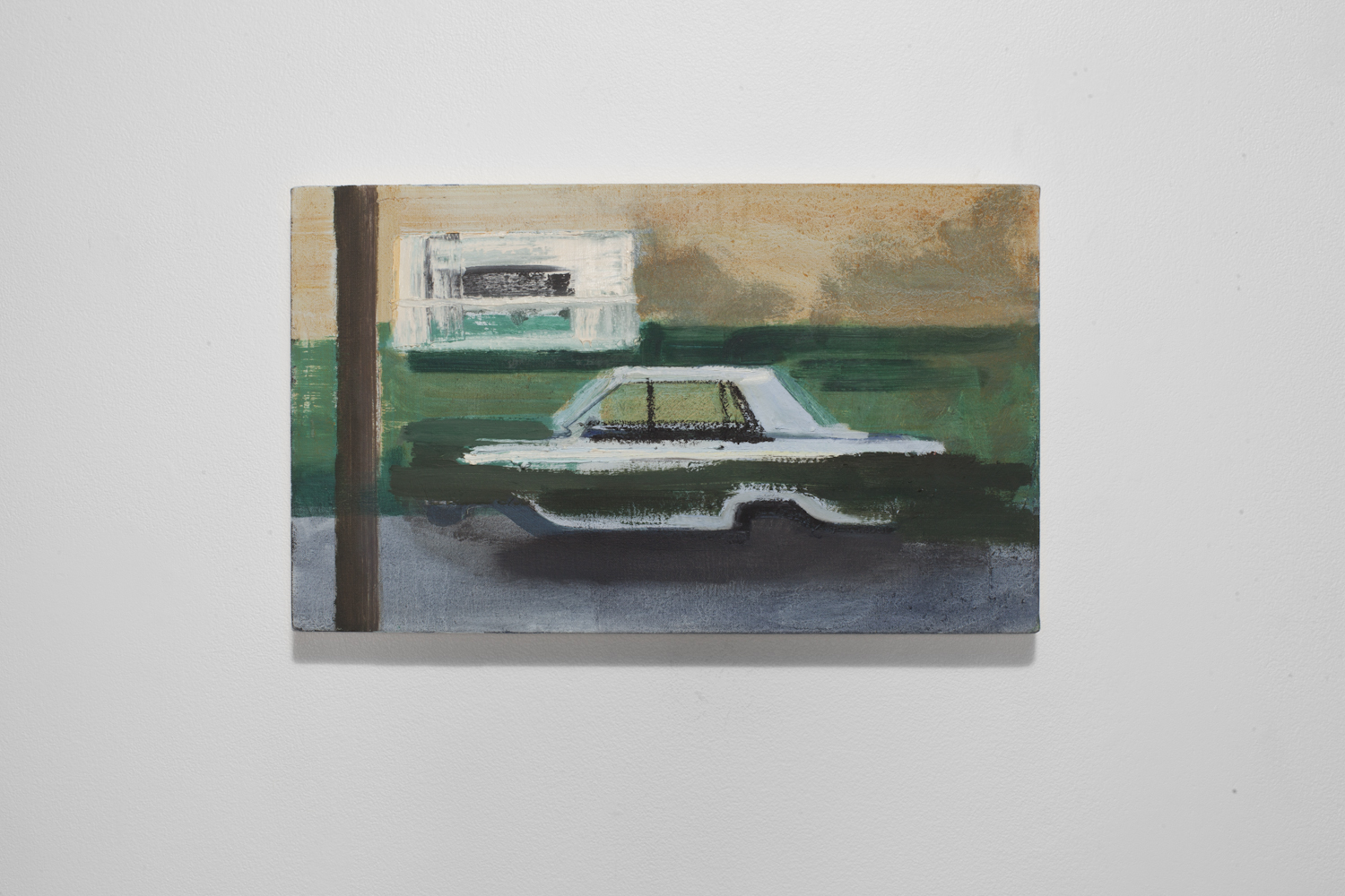 Painting of a Parked Dart  acrylic and oil on canvas  2015   traded