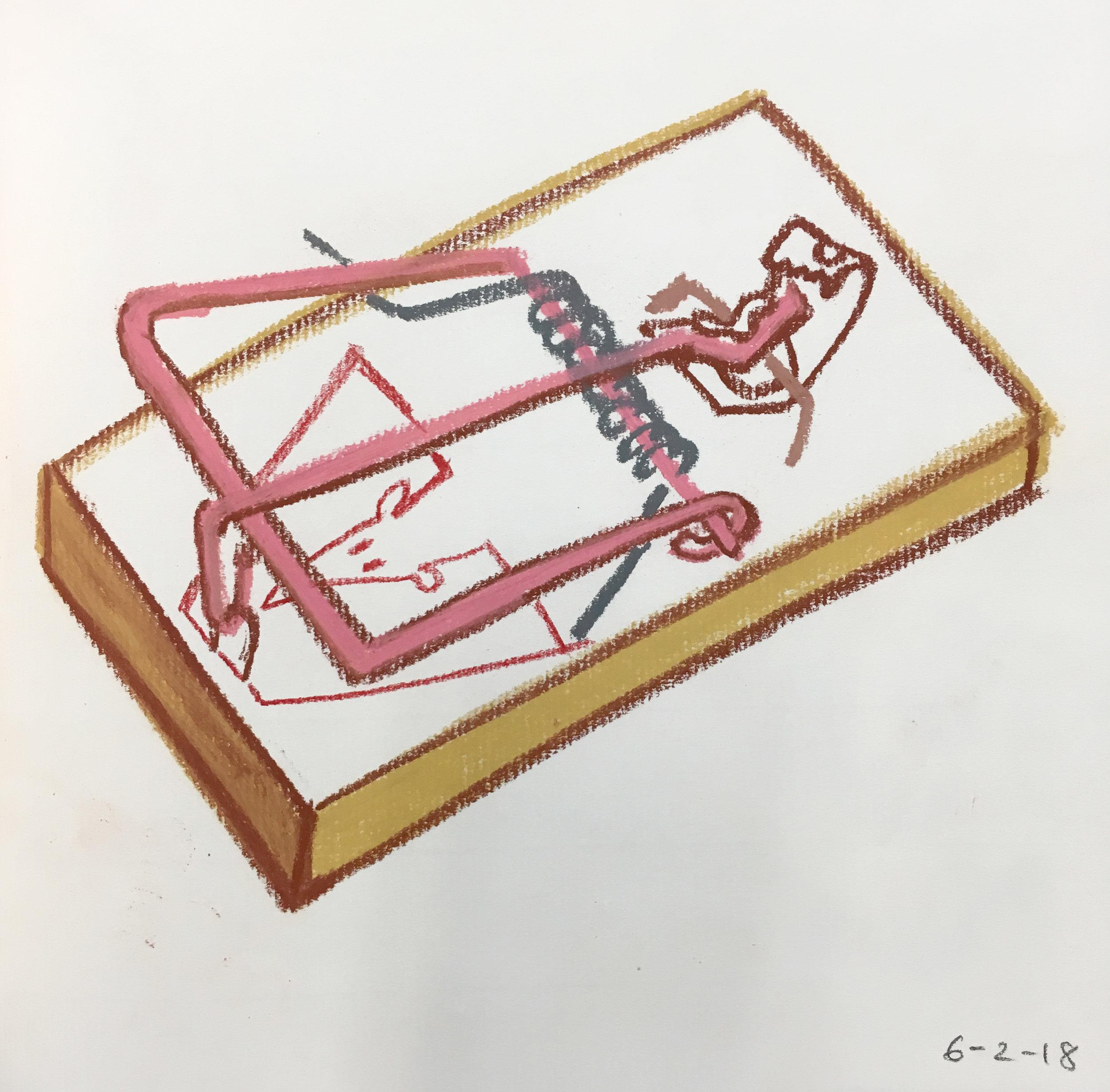 sketchbook, chalk pastel