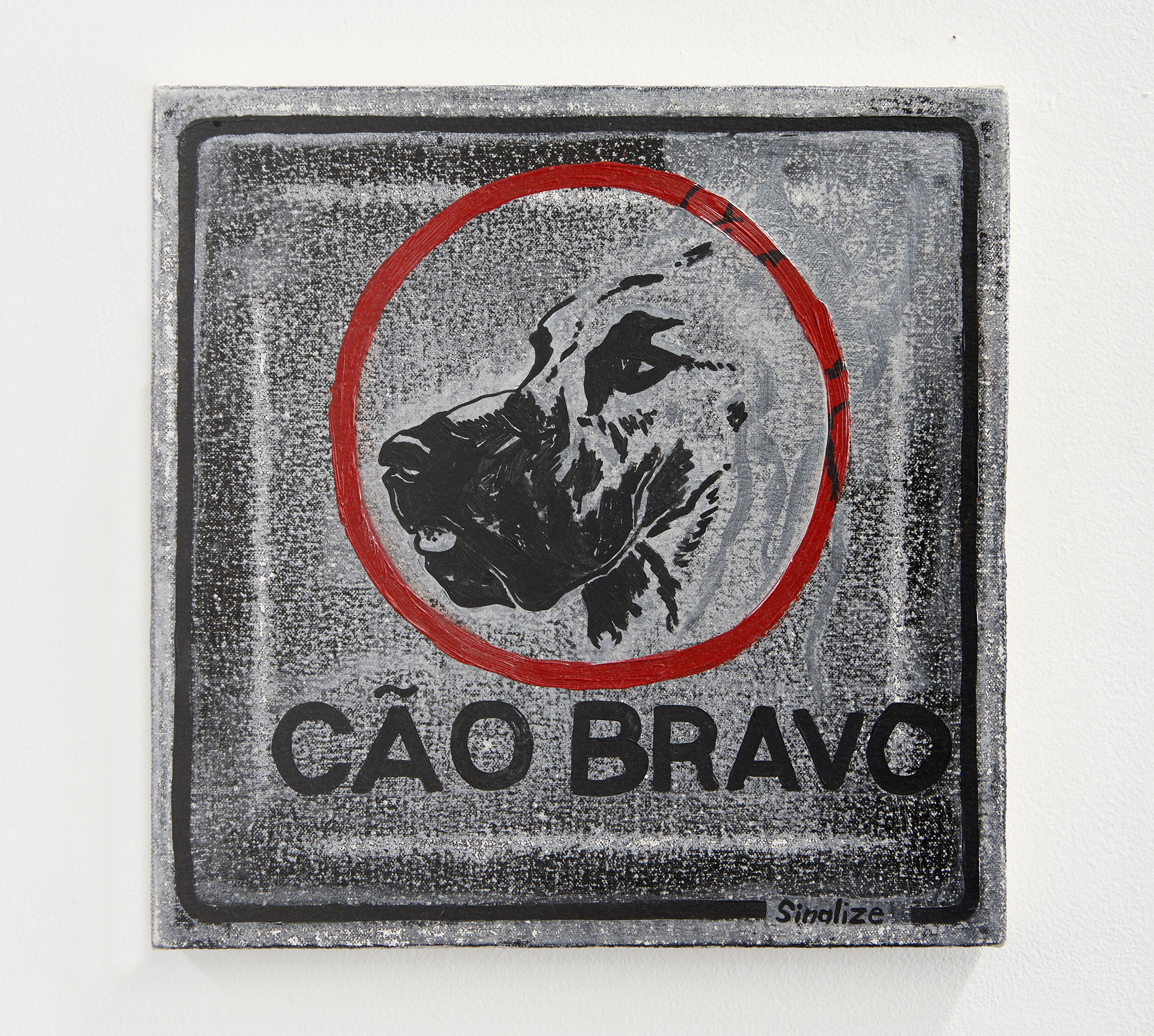 Cã0 Bravo /// Angry Dog    acrylic and oil on canvas  2017