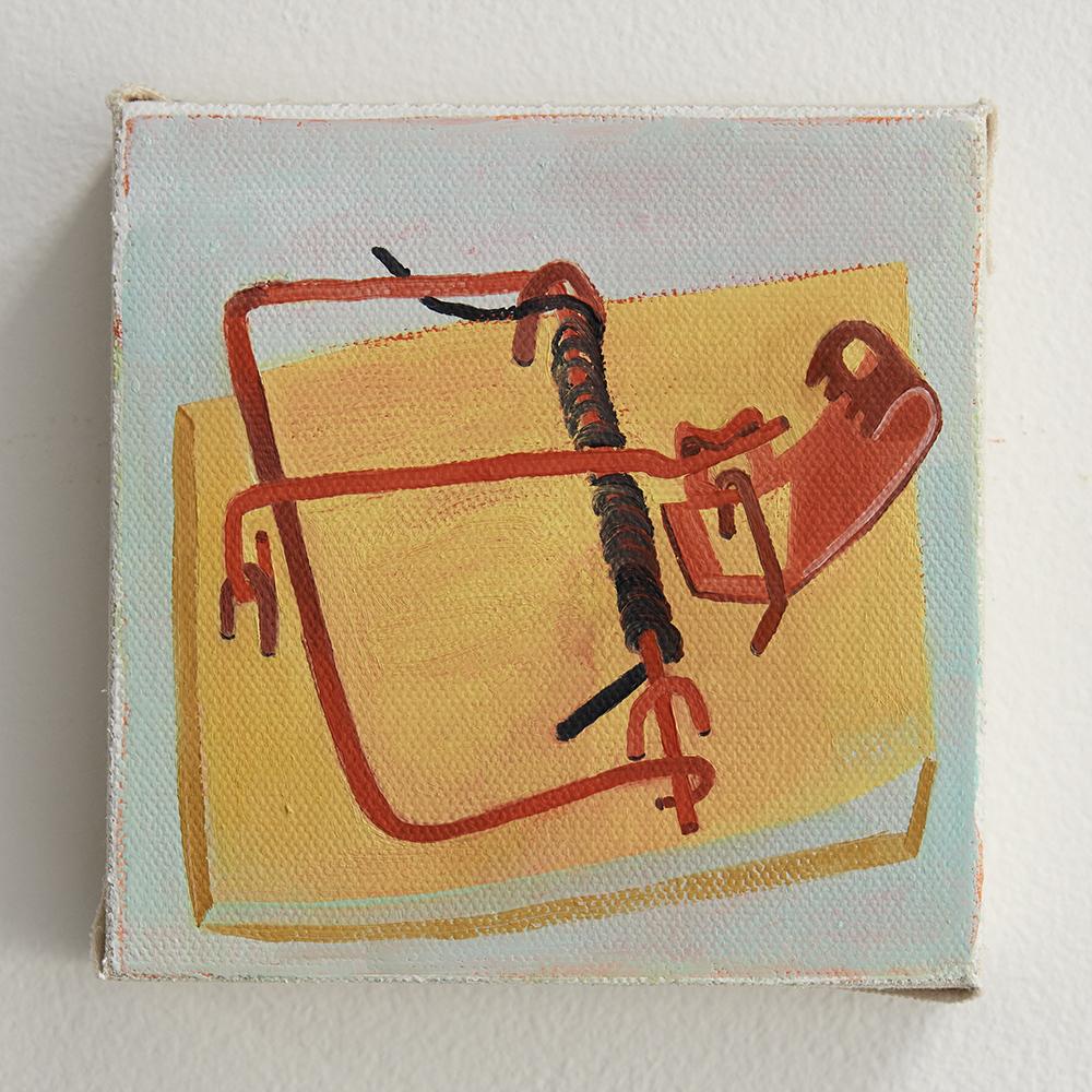 "oil on canvas, 5 x 5"", 2018"