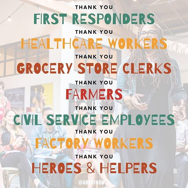 ARRAY THANKS YOU! Everyone on the front lines from our comrades, first responders, & service workers. We also want thank those consciously practicing social distancing - we will get through this together! #Community