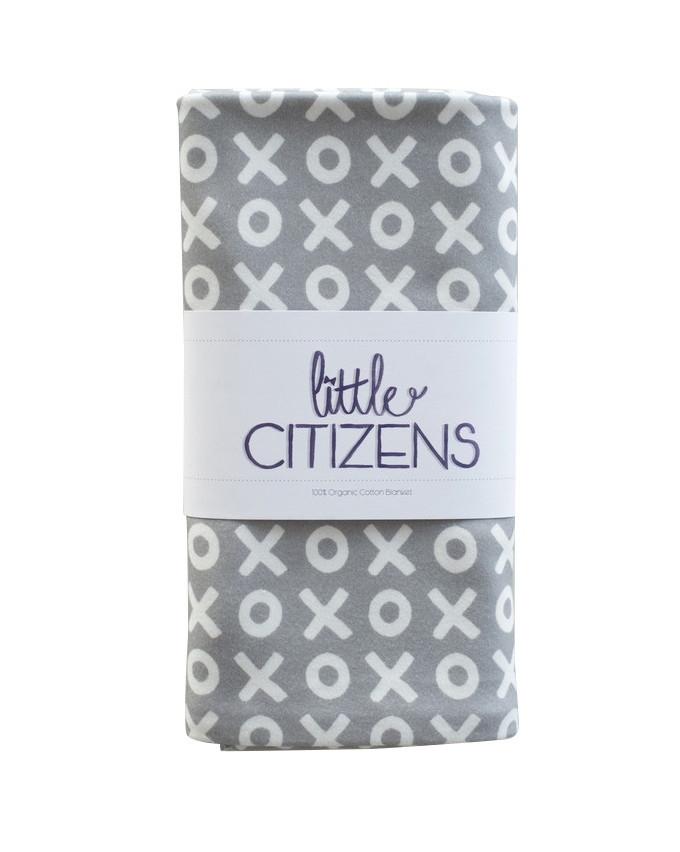 Little Citzens Organic Cotton Grey XO Blanket