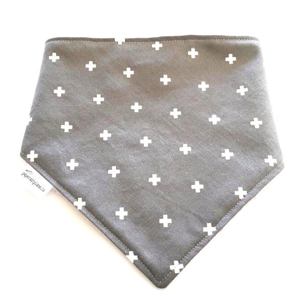 Paper Airplane Grey with White Plus Bandana Bib