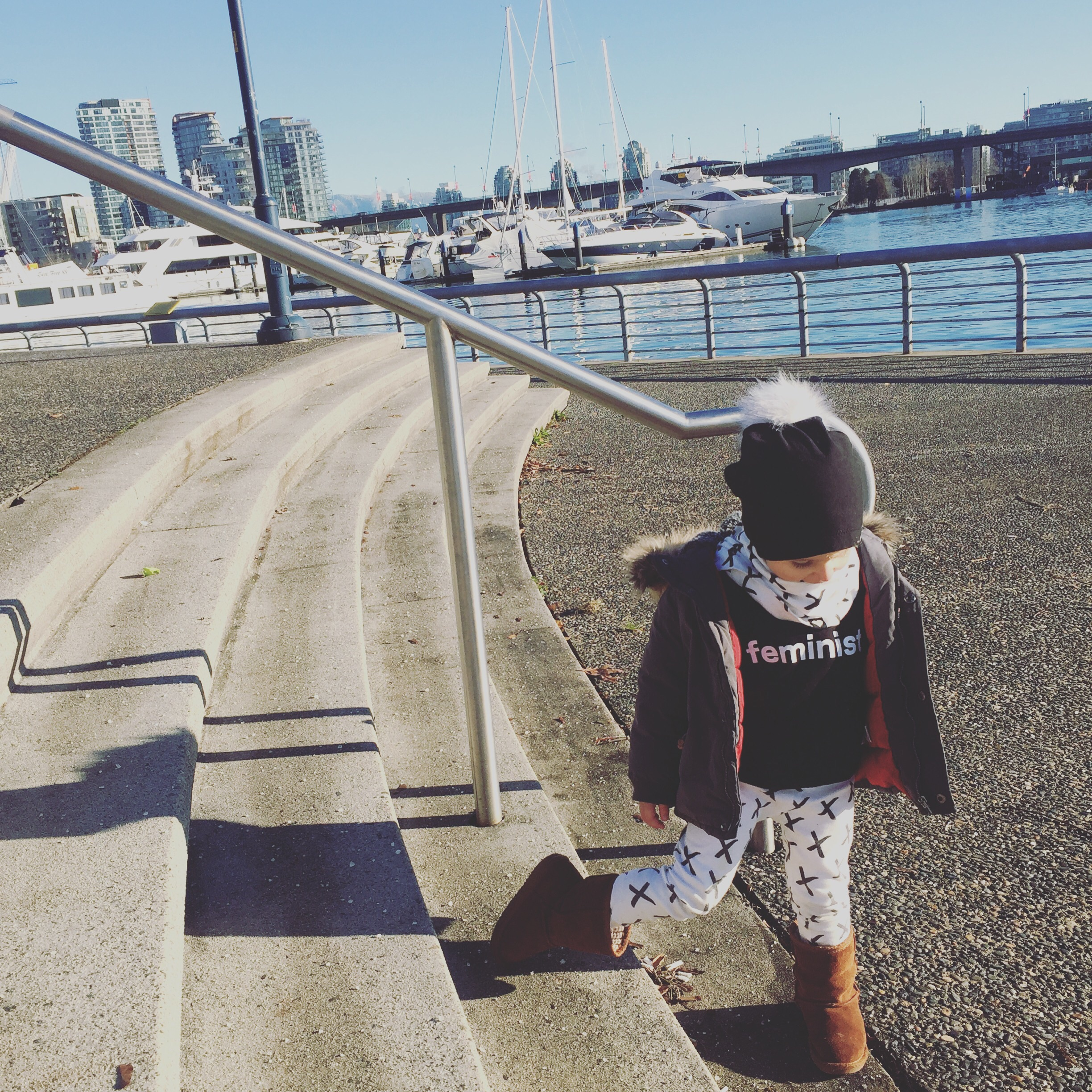 On a gorgeous New Years Eve day, Hudson and I take to the Vancouver seawall together, sharing many laughs.