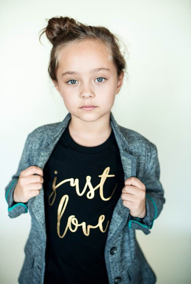 """Blue Owl Designs  """"Just Love"""" tee: use code justlove for 30% off all graphic tees."""
