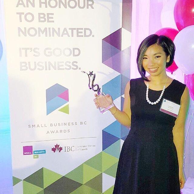 Lorene at the BC Small Buiness Awards.