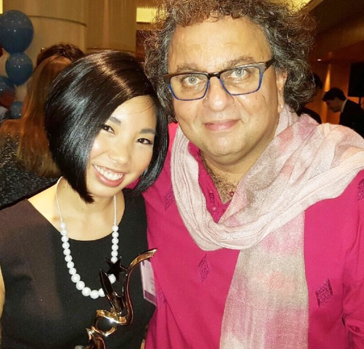 Lorene and Vikam Vij, from Dragon's Den, at the BC Small Business Awards.