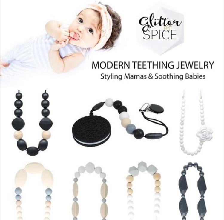 This post was proudly brought to you by  Glitter and Spice Modern Teething Jewelry