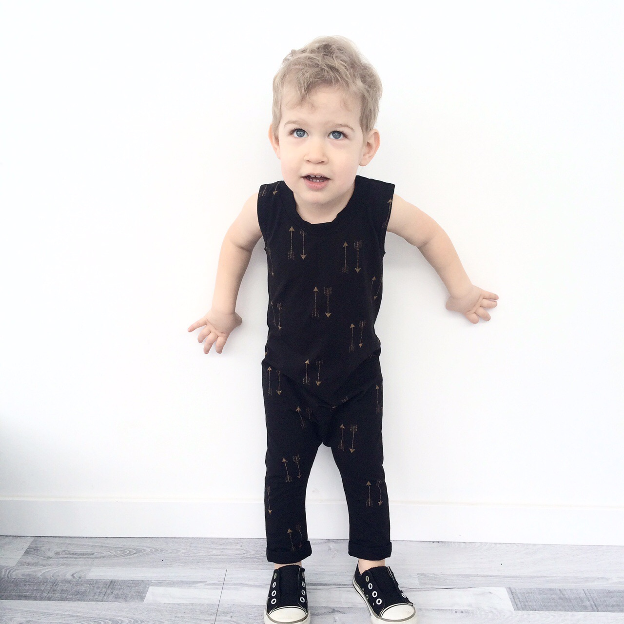 Black Arrows Custom Print Hudon Romper