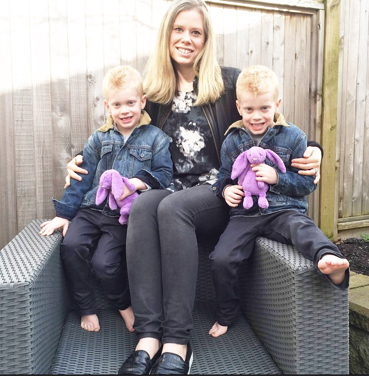 Ashley and her identical twin sons!