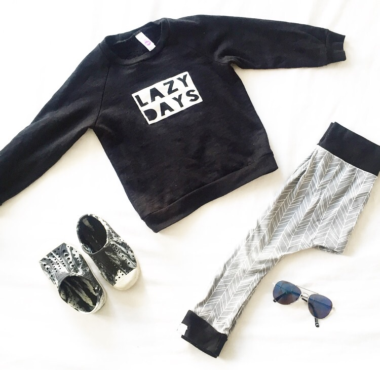 V agabond Babe  'Lazy Days' pullover /  The Little Moore Shop  harems /  Native Shoes  /  H&M  sunnies
