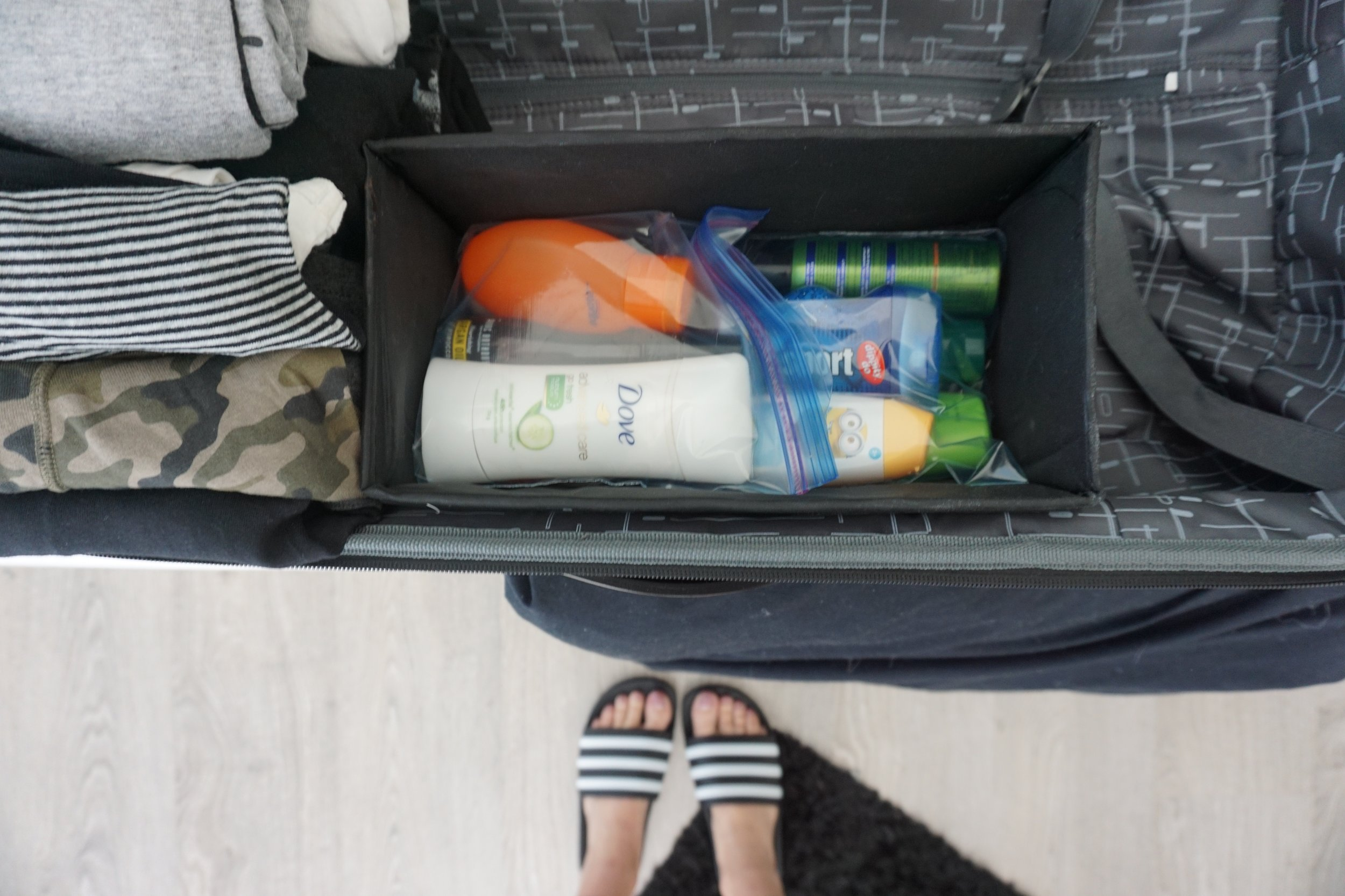 Organizer insert is from ikea, but you could also use a narrow shoe box.