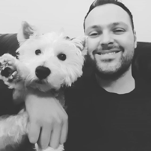 Me and the pooch, our little Heidi, lucky to have such an amazing dog, amazing girlfriend, heading back from London feeling all grateful that life has blessed me. #blessed #happiness #lucky