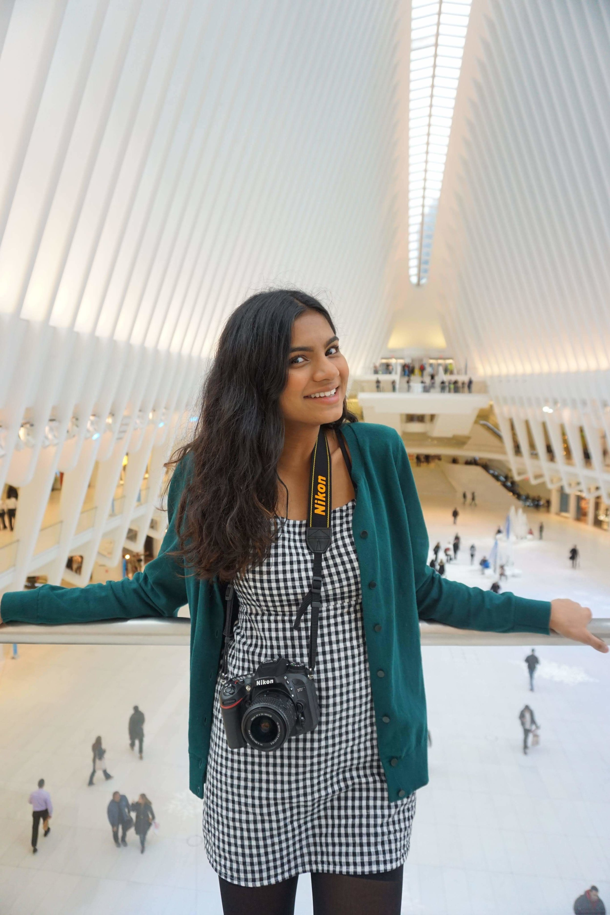 Manjari Sriparna '19   Manjari is a senior from Northern Virginia. On campus, she is a science olympiad mentor to middle schoolers, volunteer for Hopkins' Adult Emergency, PILOT leader, and is currently researching Parkinson's disease. Manjari loves photography and once accidentally captured a picture of a couple getting married! Her go to spot on campus is Mudd Atrium.