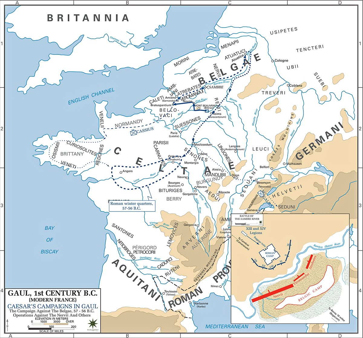 MAP Caesar Gaul Campaigns against Belgae and Nervii  57 and 56 BC.jpg
