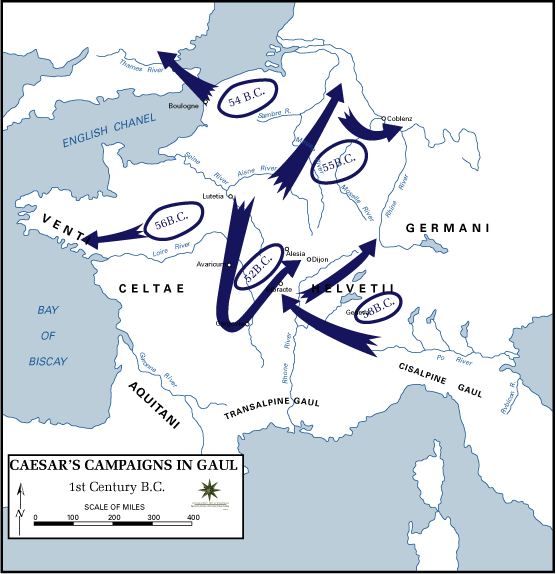 Latin AP  Caesar Map gallic_campaigns .png