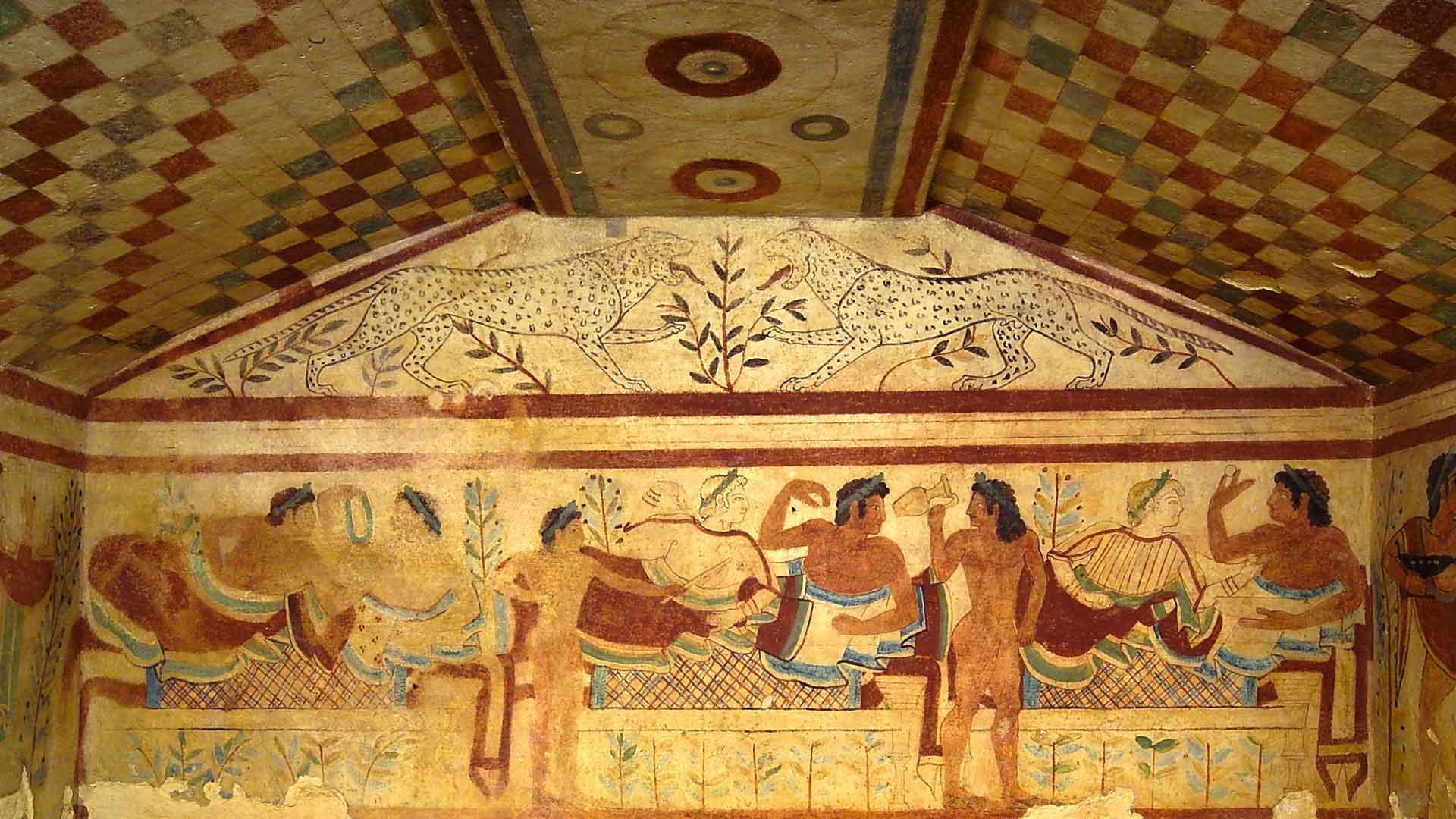 Etruscan Tomb Fresco from Tarquinia