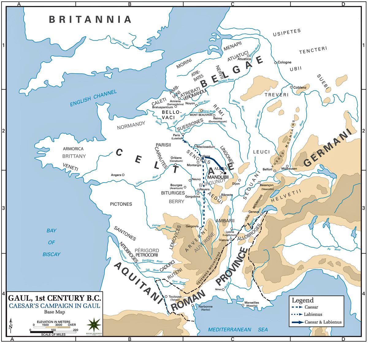 Caesar Campaigns 52 BC in Gaul Map gergovia_alesia .jpg