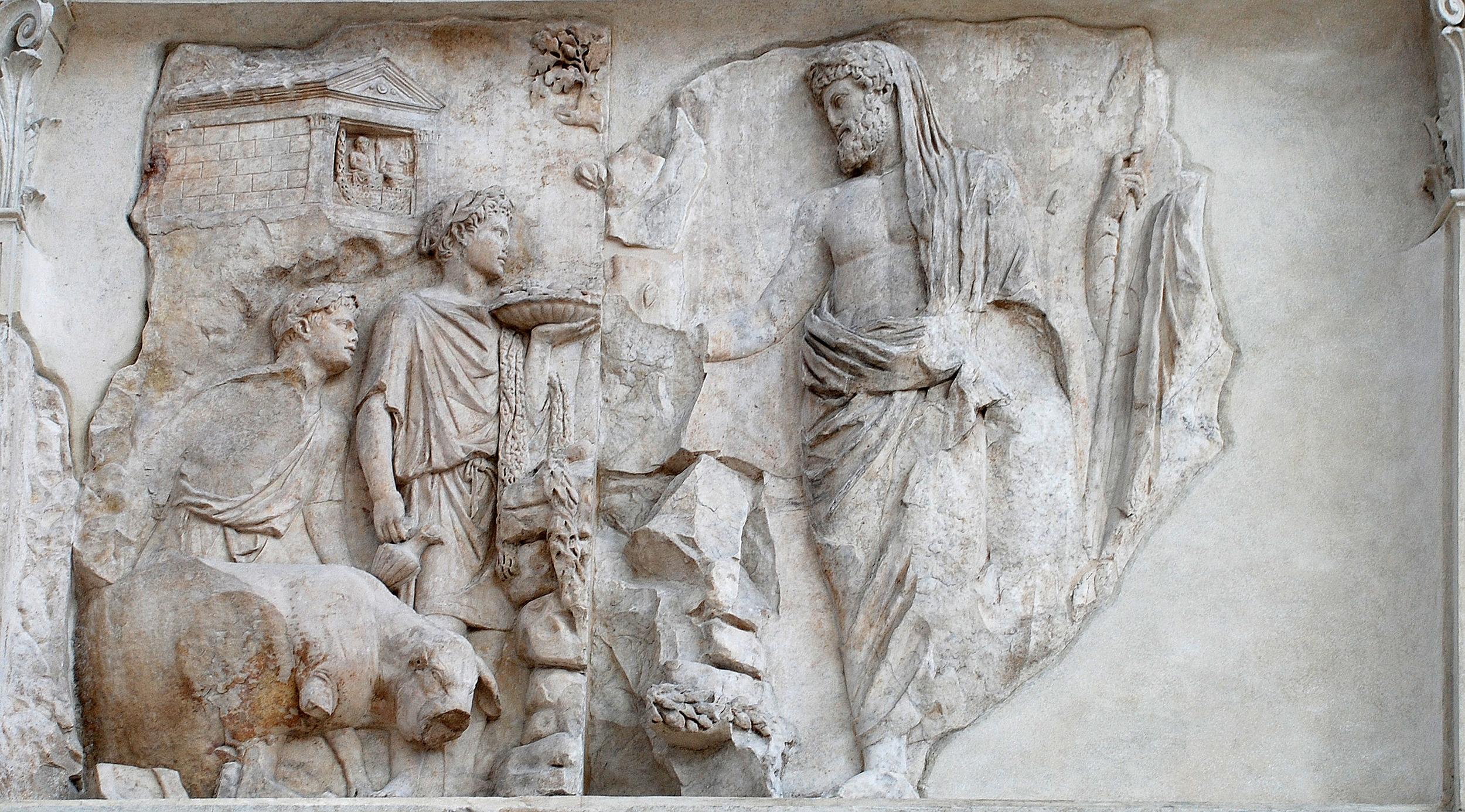 Aeneas Sacrifices in Latium
