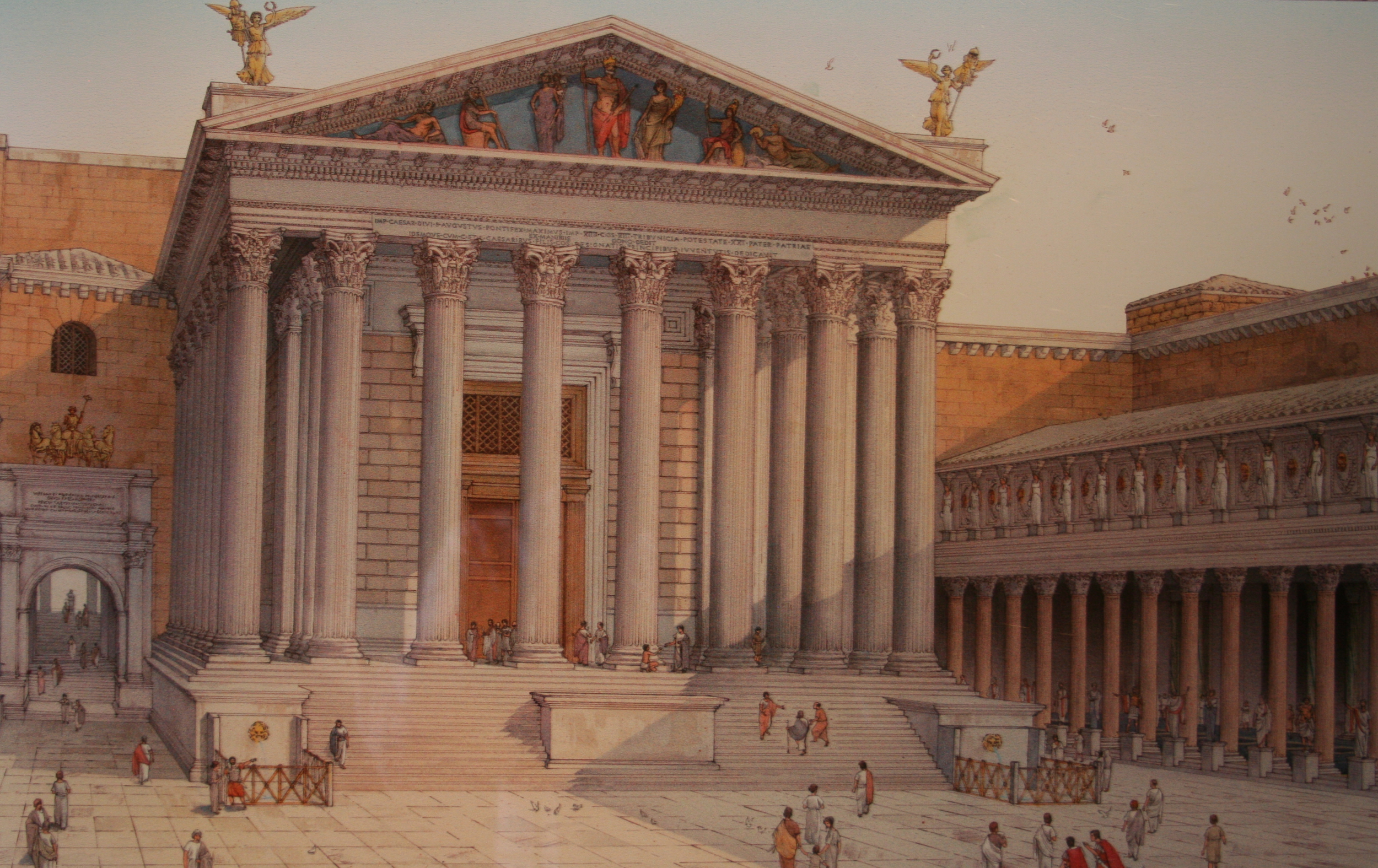 Reconstruction of Augustus' Temple of Mar Ultor