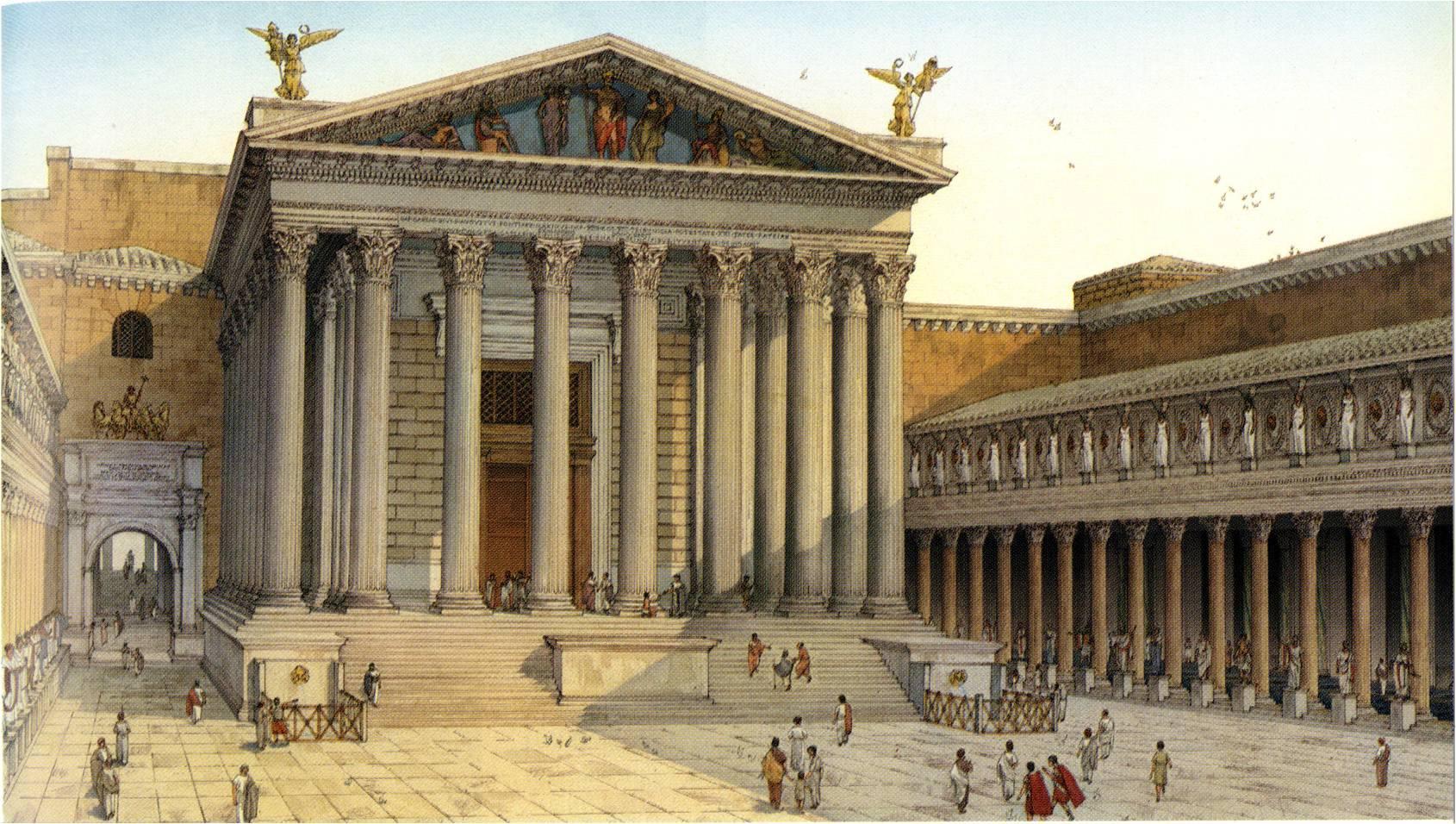 Temple of Mars Ultor built by Augustus