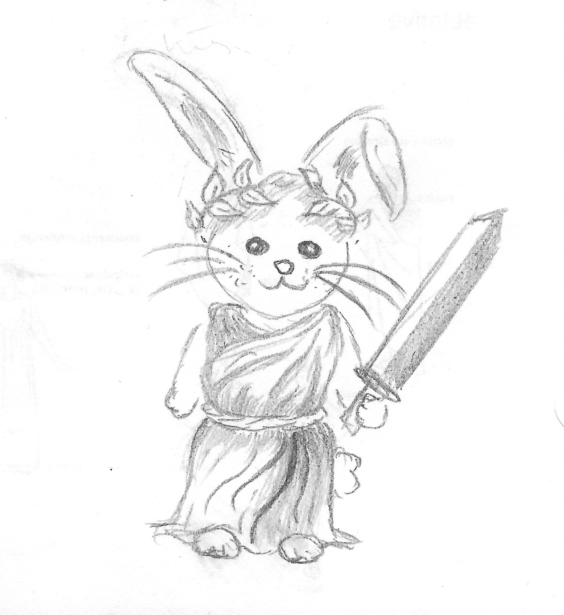 Rabbit with Gladius and Tunic Raina  Rabbit .jpeg