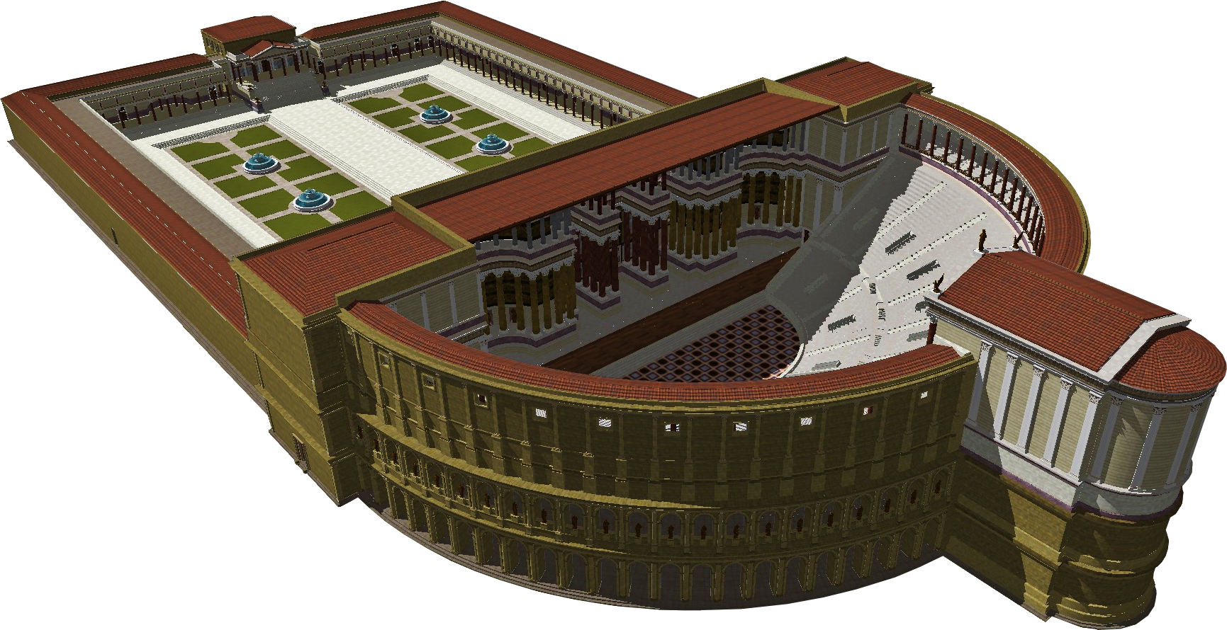 Theater of pompey Theatre_of_Pompey_3D_cut_out.png