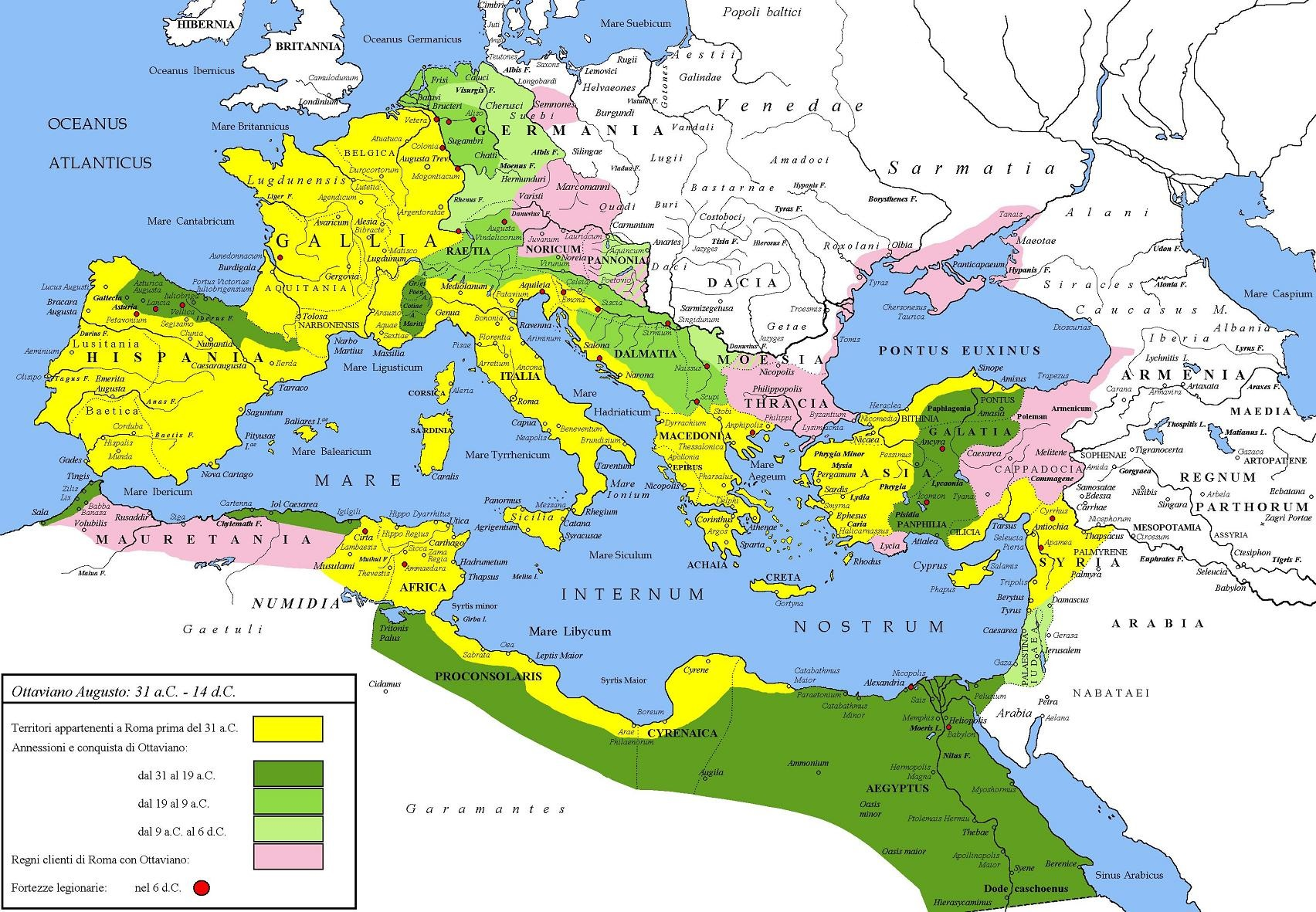 Map of Roman Empire in Time of Augustus .jpg