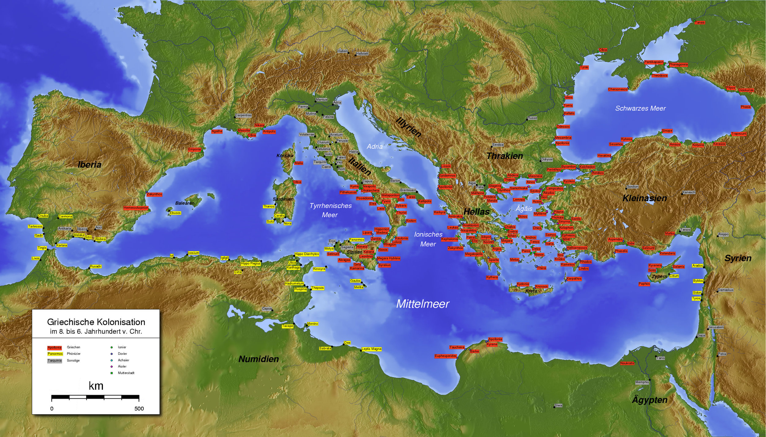 GREEK (HELLENIC) AND PHOENICIAN COLONIZATION (800-550 BC)