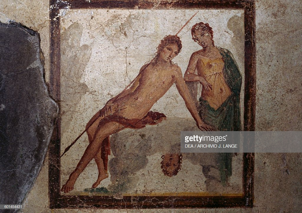 Narcissus and Echo - Roman Fresco