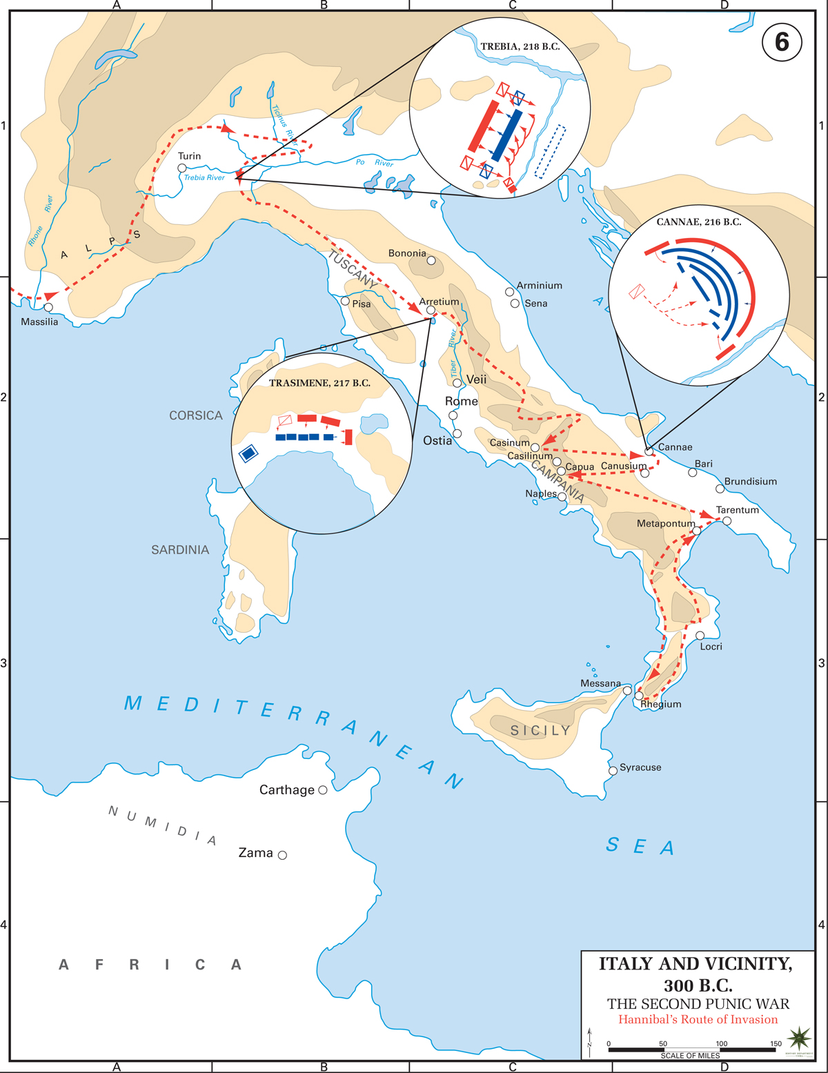 2nd punic war second hannbal italy map .jpg