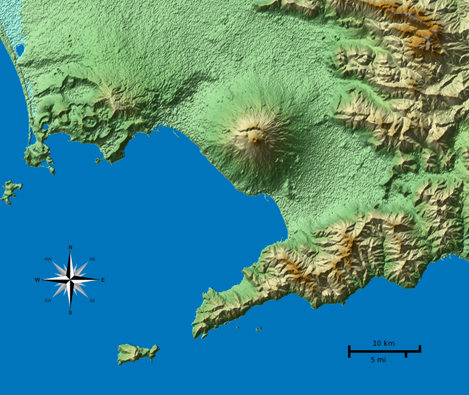 Italy 2011 topographical map of bay of naples vesuvius.png