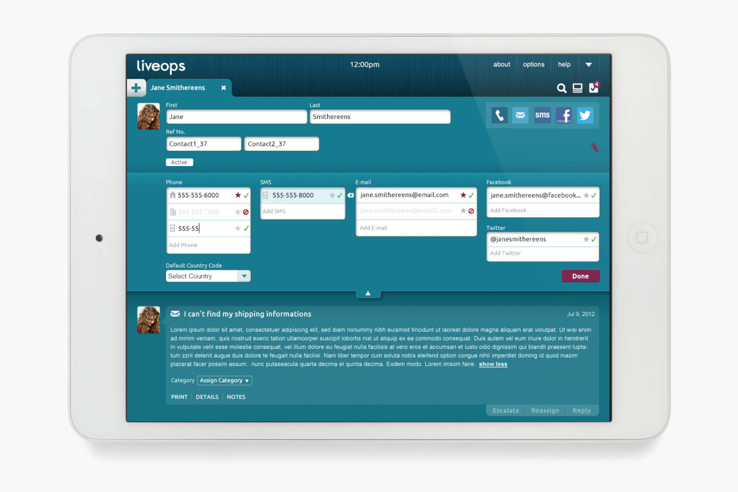 Customer Information Editor