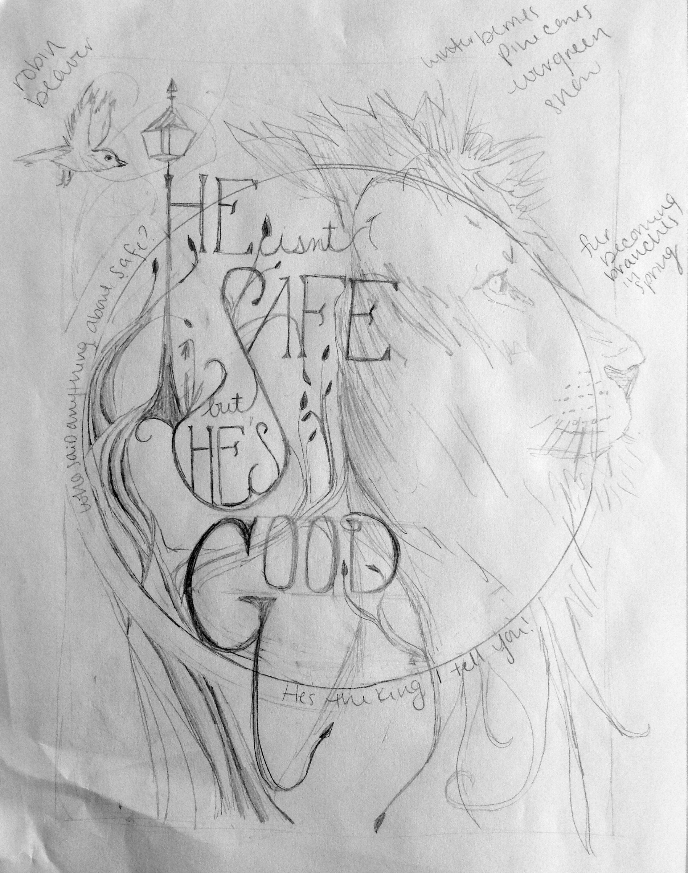 narnia lion sketch drawing