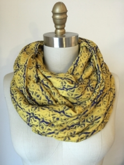 Mustard 'X' Circle Scarf, drapey, luxurious and so stylish!