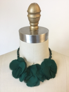 Forest Silk Flower Necklace