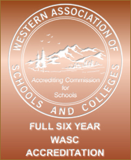 Western Association of Schools and Colleges 6 Year Accreditation Seal